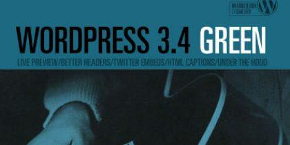 "Publishing systems – WordPress 3.4 ""Green"""