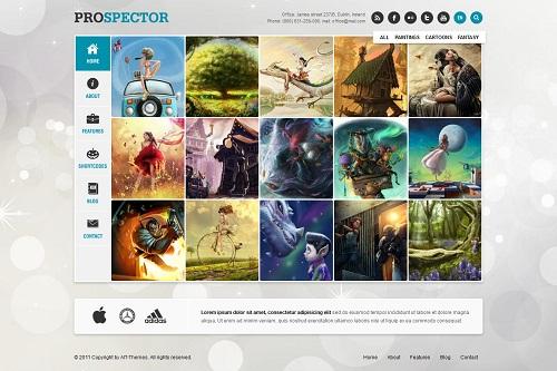 Prospector Responsive Portfolio WordPress Theme