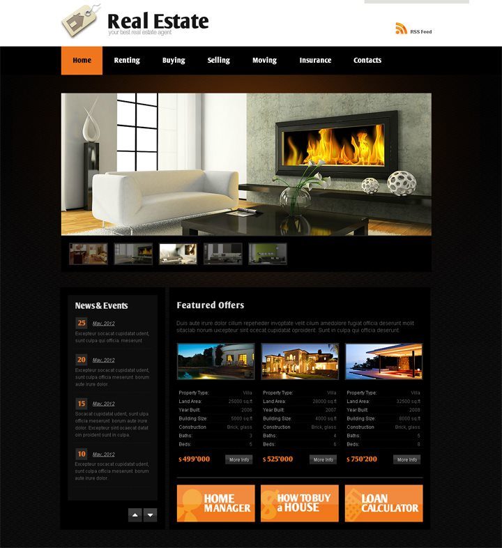 Flash Template for Real Estate Agents