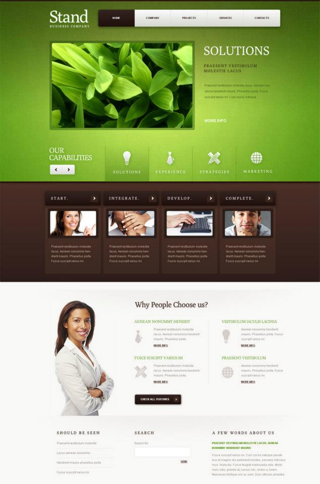 Nature-Style Business Flash Template