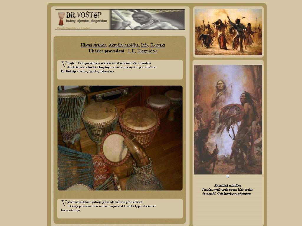 Dr.Voštěp – bubny, djembe, didgeridoo