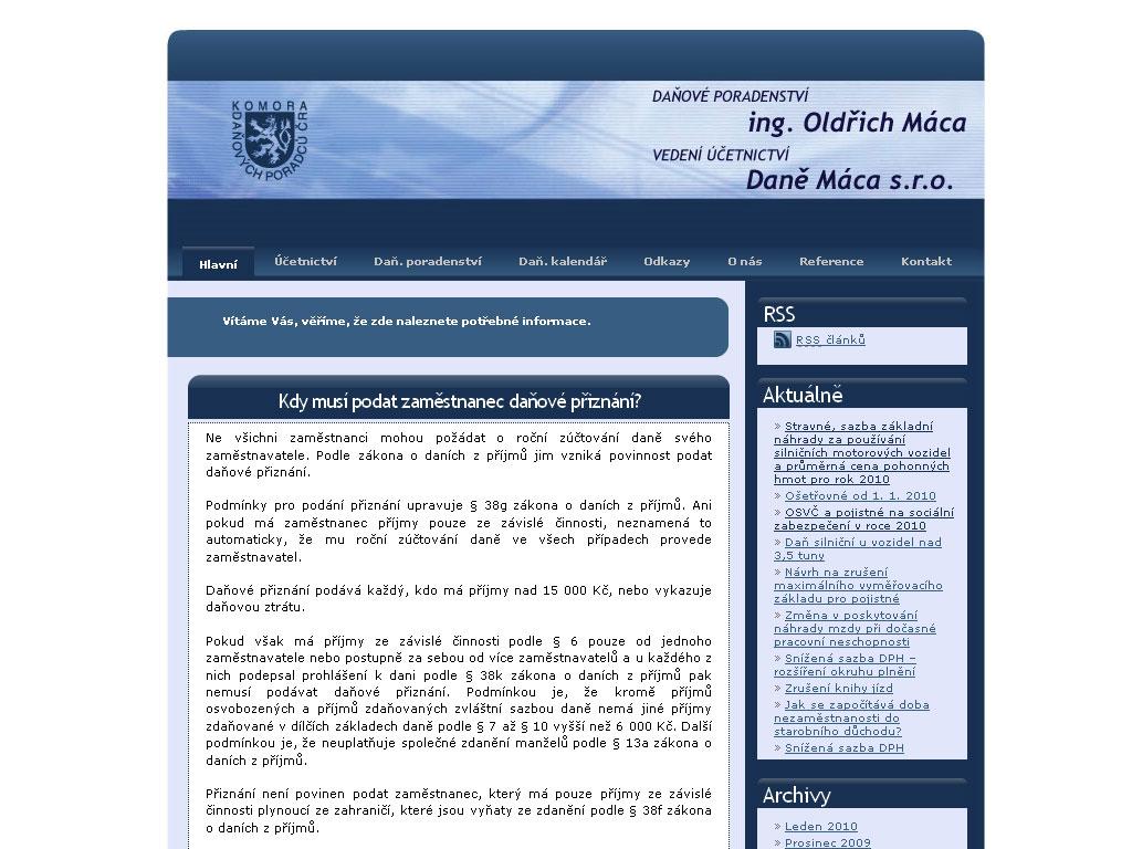 Mácovi – Daňové poradenství, vedení účetnictví