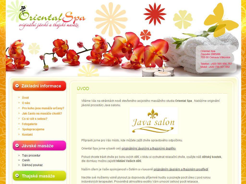 Jávské a thajské masáže Oriental Spa