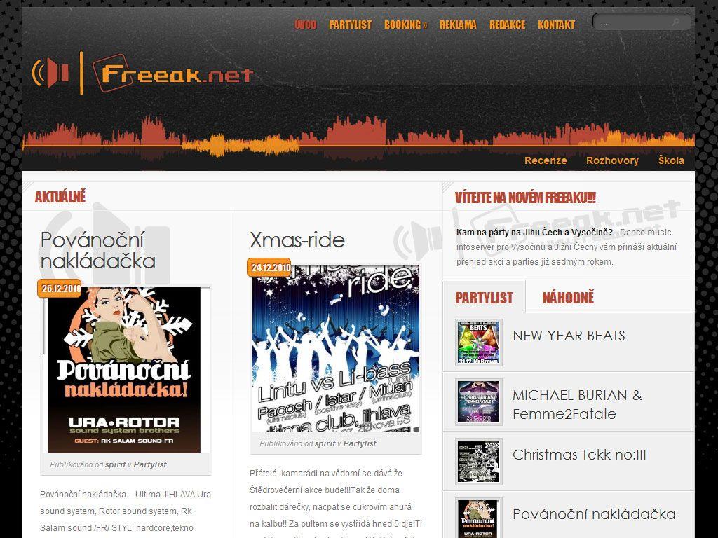 Freeak.net – Kam na párty?