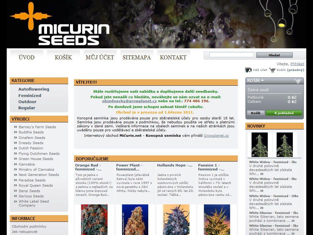 Mičurin – Konopná semínka