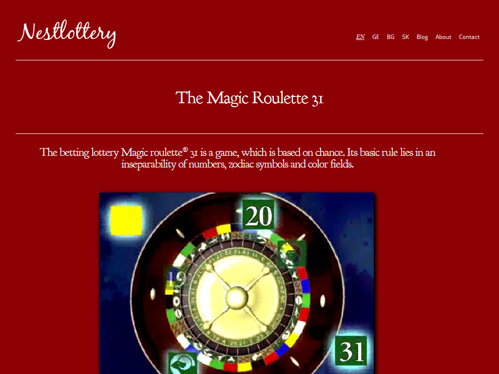 Nestlottery – The Magic Roulette 31