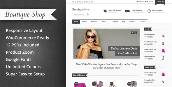 Boutique Shop – An excellent responsive theme