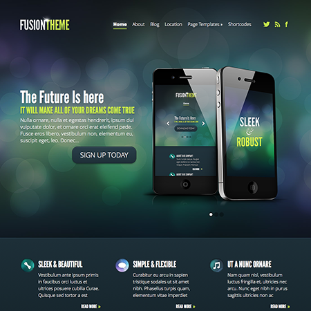 Fusion Business WordPress Theme