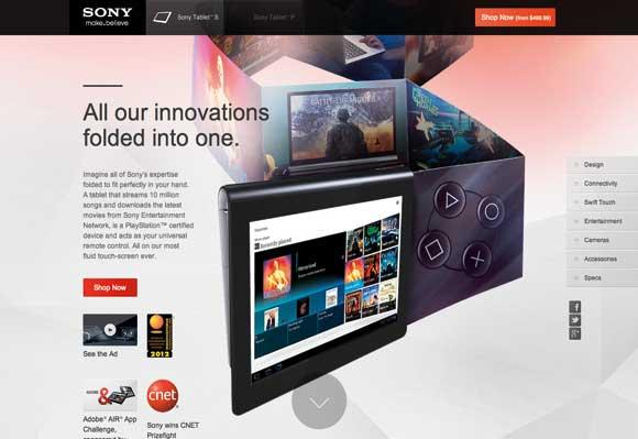 Sony Tablet's
