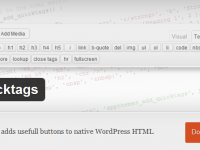 WP Quicktags – Expand Your WordPress HTML editor