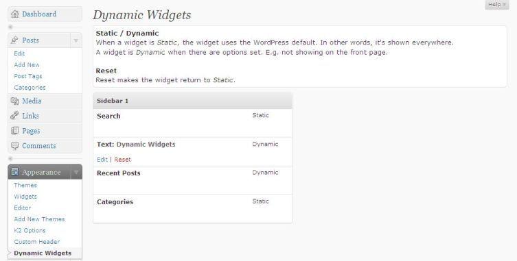 Dynamic Widgets