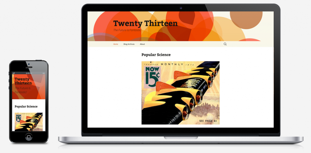 Twenty Thirteen theme