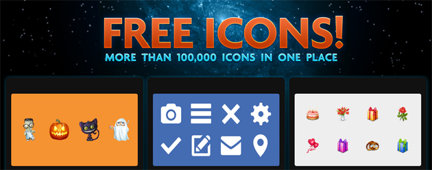 Icon Finder free icon section