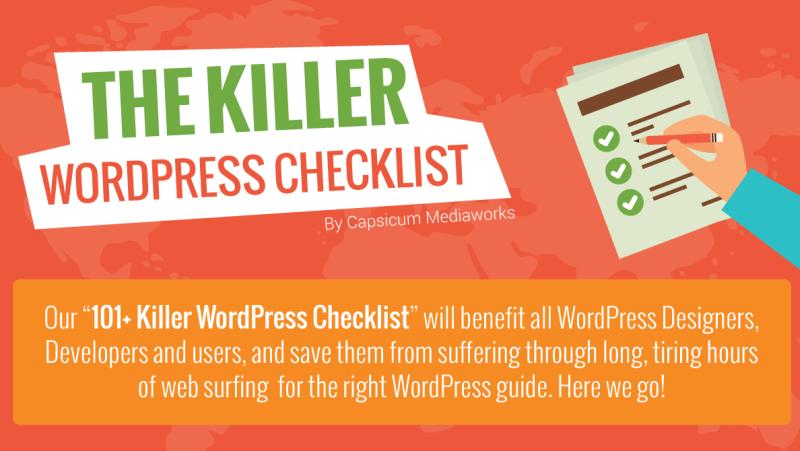 The Killer WordPress Checklist Infographic