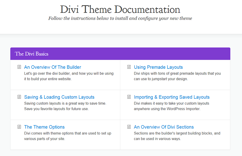 Divi-Documentation