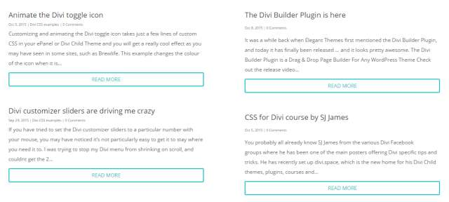 Divi Theme Examples Resources