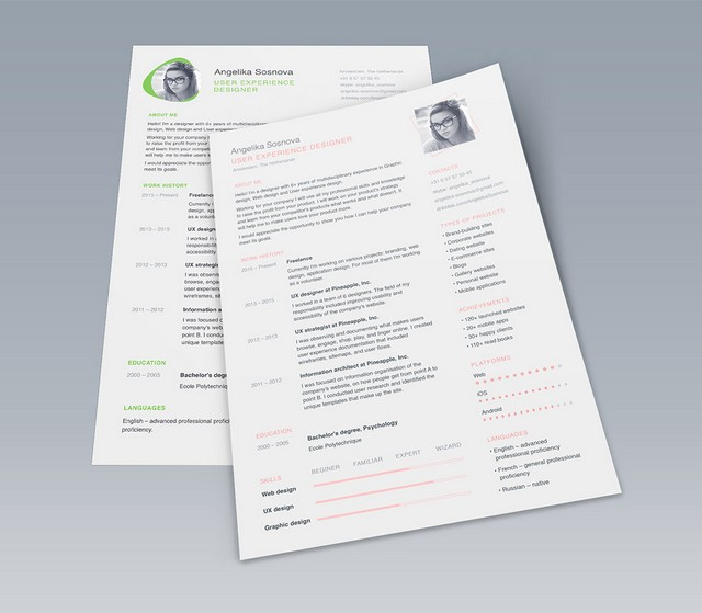 Creative Resume Free Psd Templates  Phire Base V