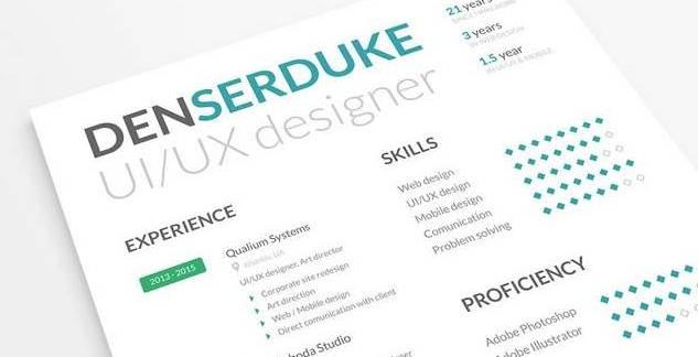 10 Creative Resume Free PSD Templates