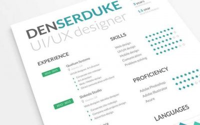 10 Creative Resume Free PSD Templates