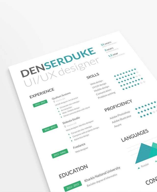 10 creative resume free psd templates phirebase