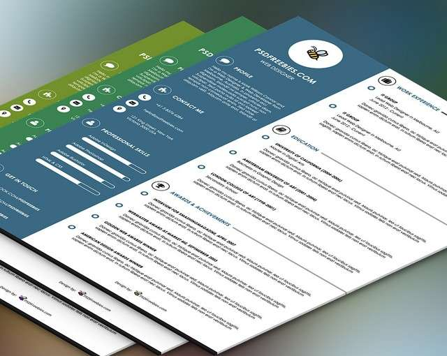 Creative Resume Free Psd Templates  Phire Base