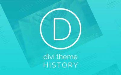Divi Theme History – Infographic
