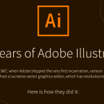 30 Years of Adobe Illustrator – Infographic