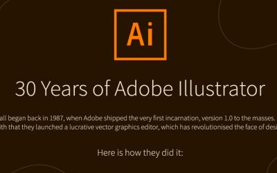 30 Years of Adobe Illustrator – Infographic