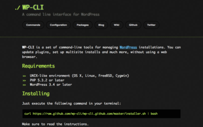 WP-CLI A command line interface for WordPress