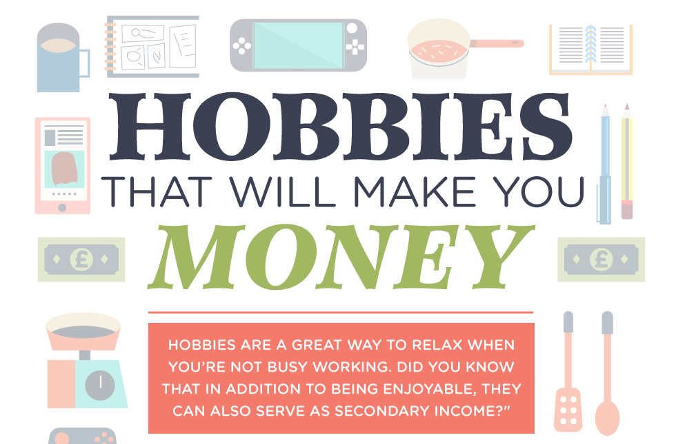 Hobbies that will make you money – Infographic