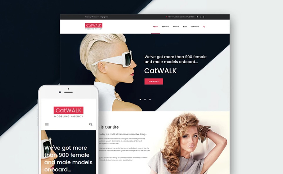Catwalk - Fashion Agency Responsive WordPress Template