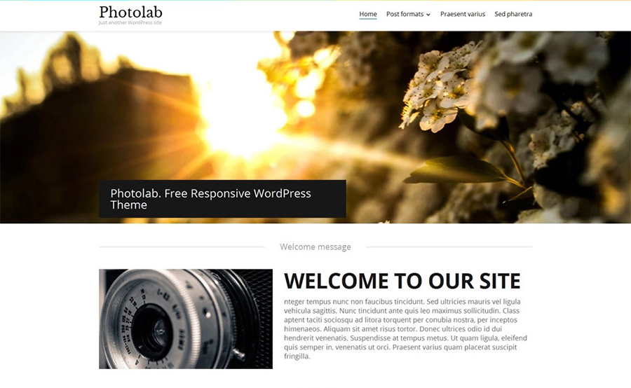 Photolab Free WordPress Template