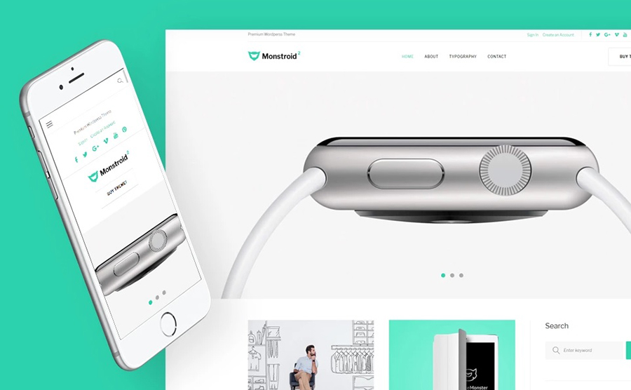 Monstroid 2 Lite - free WordPress Template