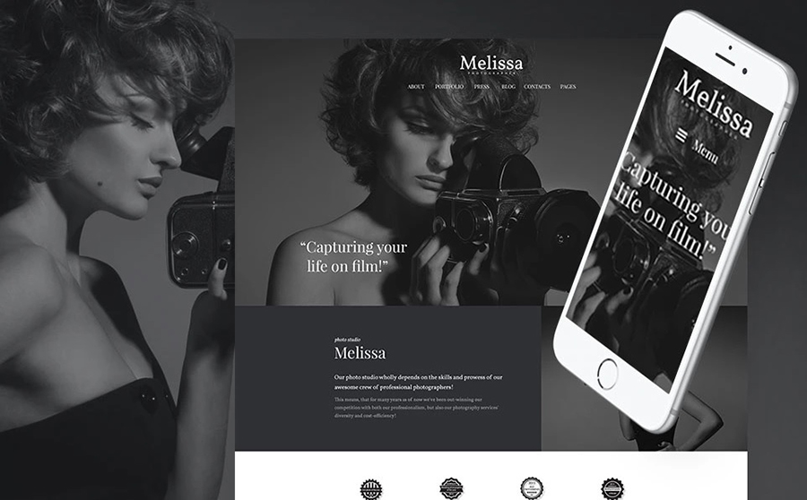 Melissa - Art & Photography WordPress Template
