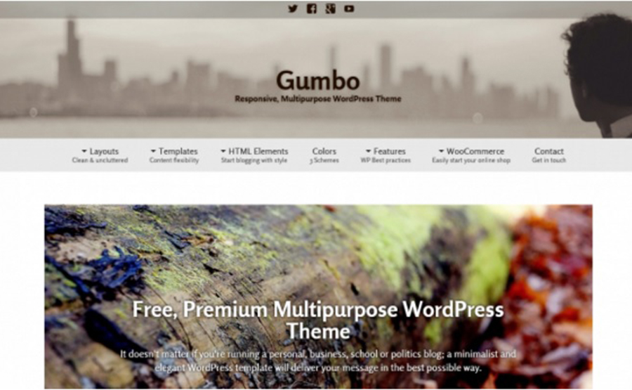 Gumbo – Free Multipurpose WordPress Template