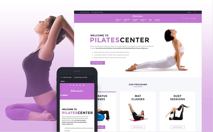 Sports Center WordPress Template