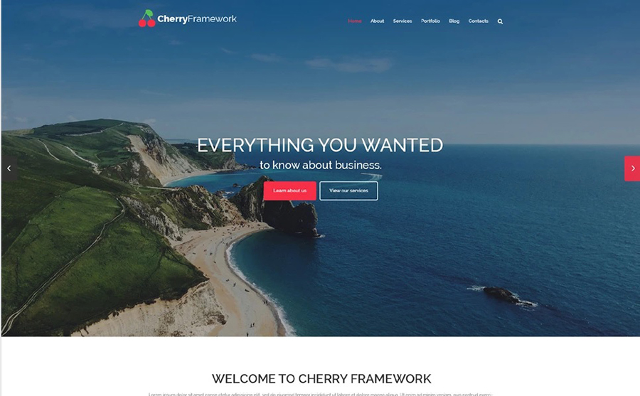 Cherry Framework Free WordPress Template