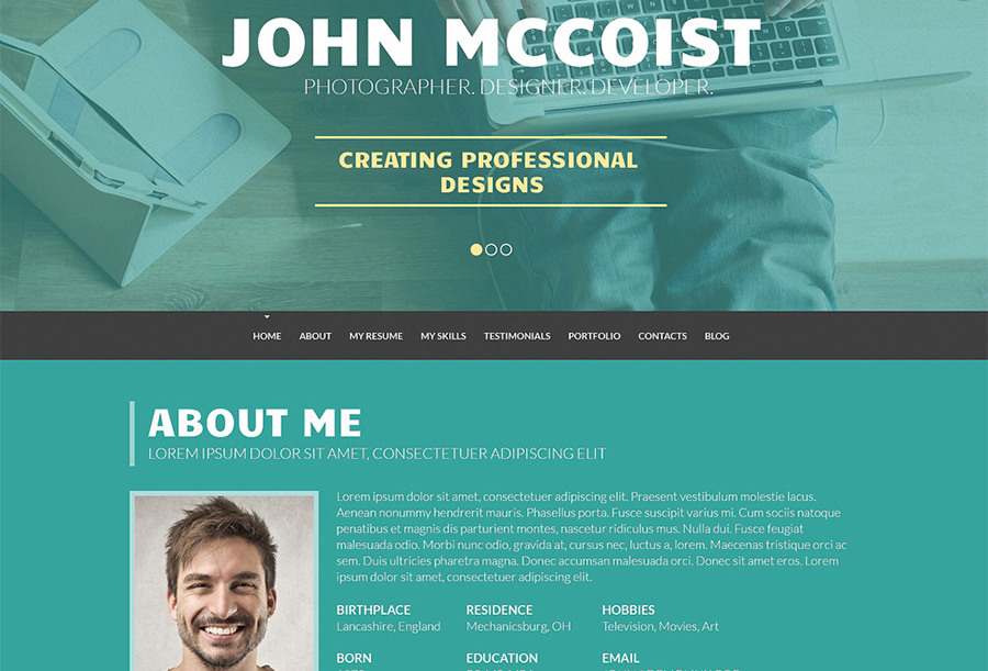 Persuasive Web Portfolio WordPress Theme