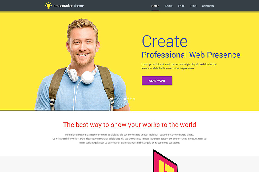 Web Design WP Template