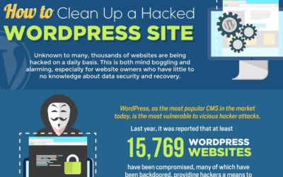 How to Clean Up a Hacked WordPress Site – Infographic