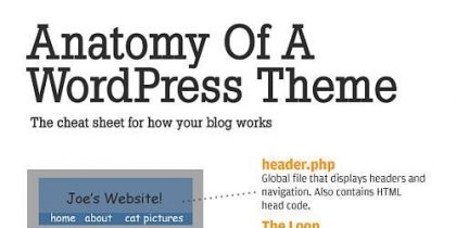 Anatomy of a WordPress Theme – Infographic