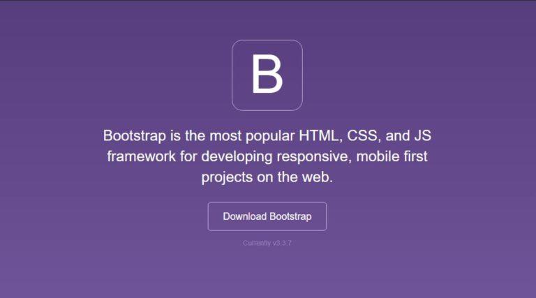 Bootstrap – Responsive front-end framework