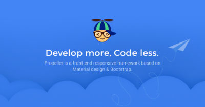 Propeller – Front-end framework based on Material Design & Bootstrap