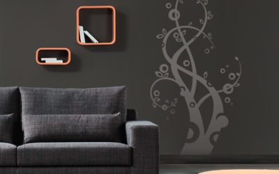 Graphical vinyl decoration for interiors