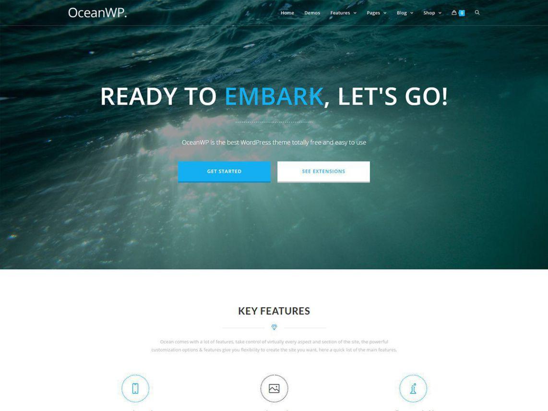 OceanWP - Shark among the themes