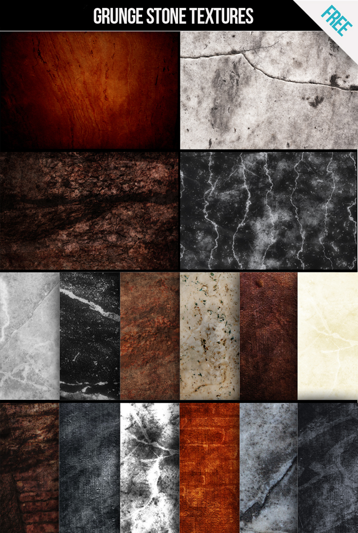 FREE Grunge stone texture pack