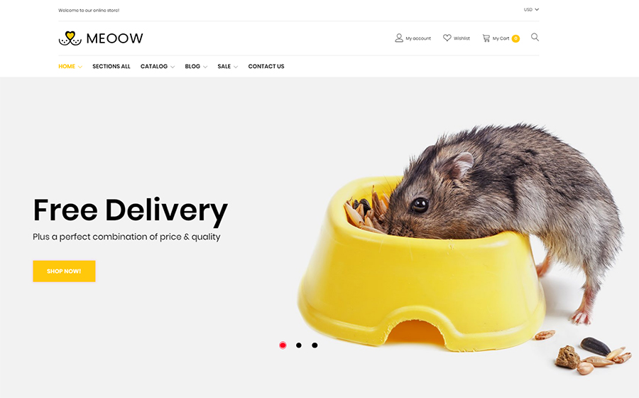 Meeow - Cute Pet Shop Shopify Theme