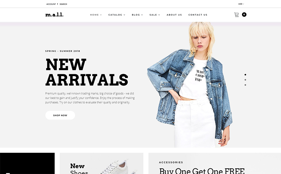 m.a.l.l. - Clothing Store Shopify Theme