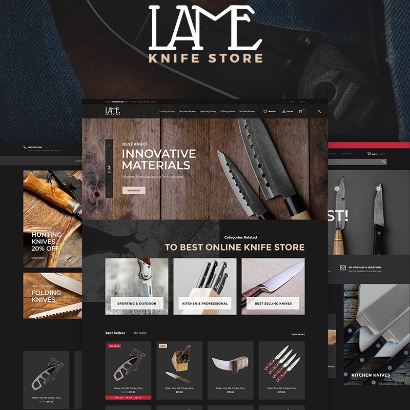 LAME - Knife Store PrestaShop Theme