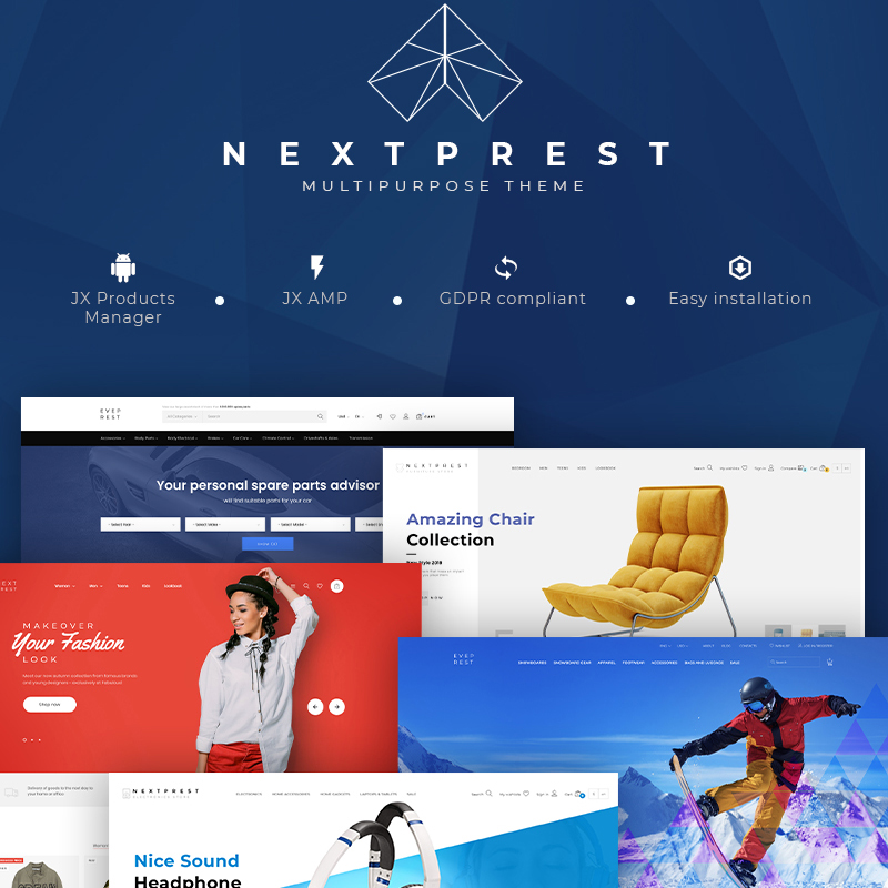 NextPrest - Multipurpose Clean Ecommerce Bootstrap PrestaShop Theme